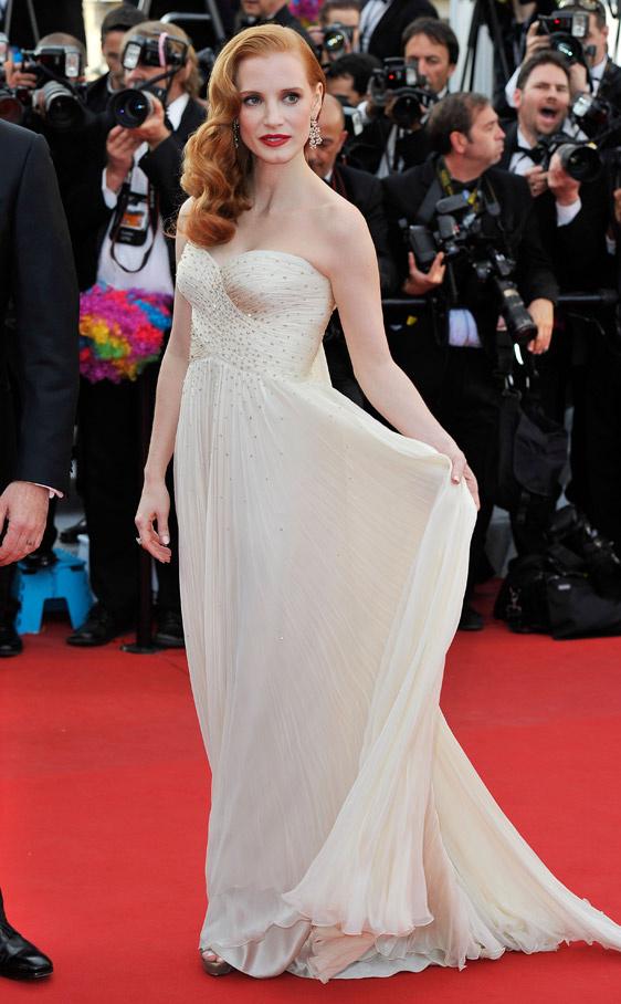 jessica chastain de giorgio armani cannes2012 Los modelitos más ON de Cannes